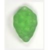 Glass Grapes 11x34mm Light Green Matt Beads